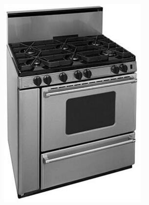 P36S3282PS 36 inch  Pro Series Gas Range with 6 Sealed Top Burners  Separate Broiler Compartment  17 000 BTU Oven Burner  Heavy Duty Cast Aluminum Griddle  Storage