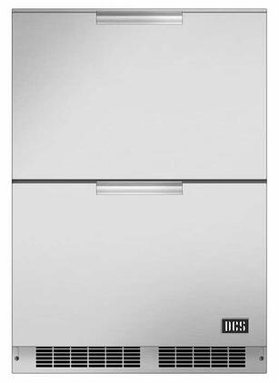 """RF24DE4 24"""" Energy Star Outdoor Double Refrigerator Drawers with 5.6 Cu. Ft. Capacity in Brushed Stainless"""