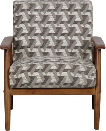 DS-D030003-486 Accent Chair with Hardwood Construction  Minimalist Styled Padded Cushion and Textured Fabric Cover in Prism