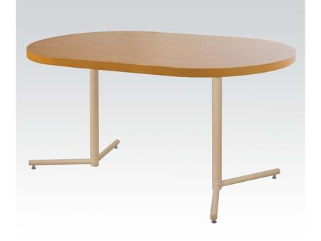 Douglas 16290 Oval Wood Veneer Dining Table with Double Table Stand in Light
