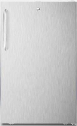 FF511LADAL7SSTBADA 20 inch  ADA Compliant  Commercially Approved  Medical Compact Refrigerator with 4.1 cu. ft. Capacity  Crisper  Automatic Defrost and Door Lock: