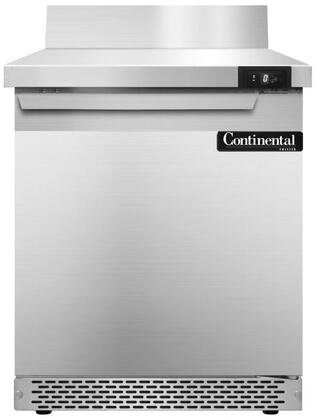 SWF27BSFB 27 inch  Worktop Freezer with Solid Door  6 inch  Backsplash  7.4 Cu. Ft. Capacity  Front Breathing Compressor  Aluminum Interior  Interior Hanging Thermometer
