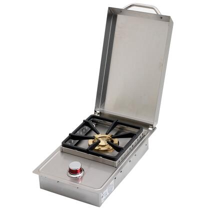 BBQ08852P Standard Single Flat Side Burner with 15 000 BTU of Power  Protective Guard  and High Grade Stainless Steel