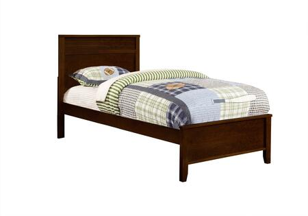 Ashton Collection 400771T Twin Size Panel Bed with Clean Line Design  Low Profile Footboard  Sleek Tapered Legs and Wood Construction in