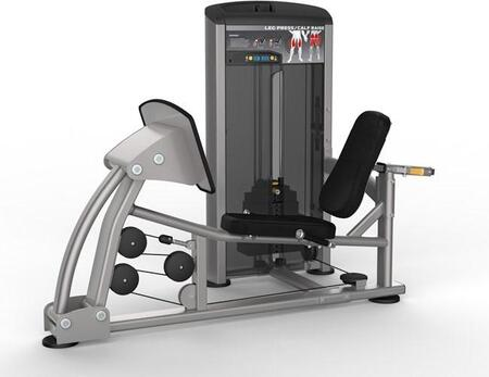 E-4983 Platinum Series 9510 Leg Press Machine with 300 lbs. Incremental Weight Stack  Military Grade Cables and High-Tech Oval Tubing in Black and