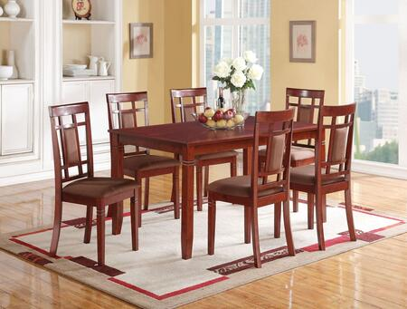 Sonata Collection 71160SET 7 PC Dining Room Set with Dining Table + 6 Side Chairs in Cherry