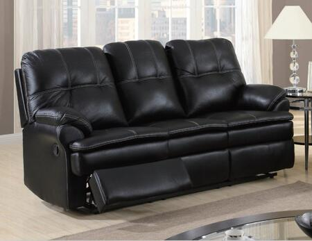 U1078-S Printed Microfiber Recliner Sofa  Plush Seat/Arms/Back  with Reclining Mechanism  in