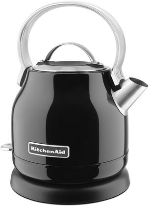 KEK1222OB 1.25 Liter Electric Kettle with Removable Lid  Simple Controls  Removable Base  and Stainless Steel Body  in Onyx