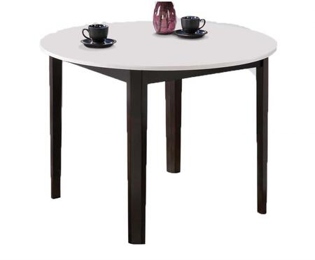 Taden Collection 71445 40 inch  Dining Table with Round Shape  Apron and Wood Frame in White and Dark Cherry