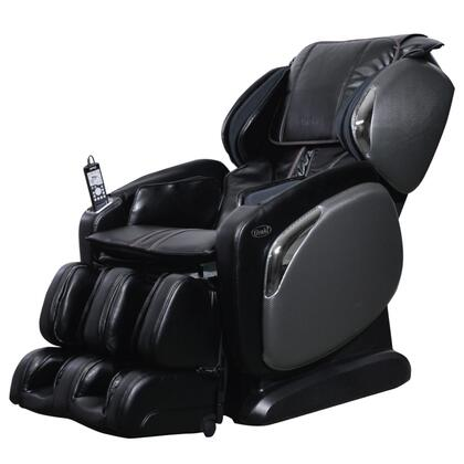 OS-4000CS BLACK Massage Chair with Space Saving Recline  Lumbar Heating Pad  Zero Gravity Positioning  24 Airbag Massage and 6 Massage Techniques in