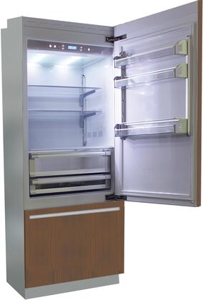 BI30B-RO 30 inch  Brilliance Series Built In Bottom Freezer Refrigerator with TriMode  TotalNoFrost  3 Evenlift Shelves  Door Storage and LED Lighting: Panel