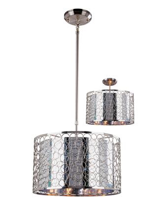 Saatchi 185-15 15 inch  3 Light Pendant Novelty  Whimsicalhave Steel Frame with Chrome finish in Chrome and