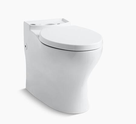 Persuade K-4326-0 Comfort Height Elongated Toilet Bowl with Skirted Trapway in