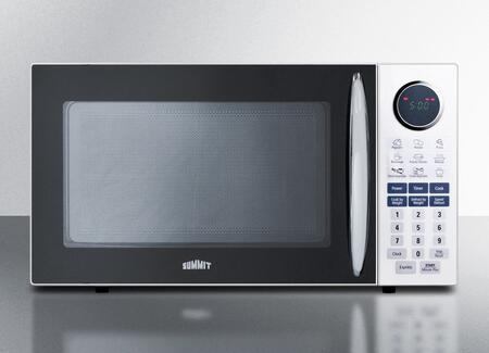 SM1102WH 1 cu. ft. Capacity Full-Sized Microwave Oven With Multiple Power Levels  End of Cycle Ring  Rotary Turntable  and One-Touch Auto Cook Menu in