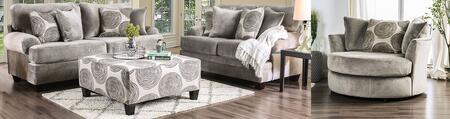 Bonaventura SM5142GY-SFLVCHOT 4-Piece Living Room Sets with Sofa  Loveseat  Chair and Ottoman in