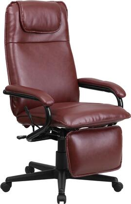 BT-70172-BG-GG High Back Burgundy Leather Executive Reclining Office