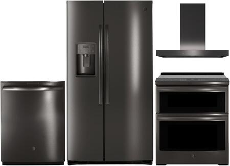 4 Piece Kitchen Appliance Package with PSE25KBLTS