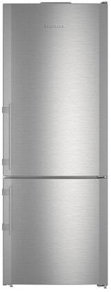 Liebherr CBS-1660 30 Energy Star Rated Freestanding Right Hinge Bottom Freezer Refrigerator with 14.9 cu. ft. Total Capacity BioFresh and 3 Glass Refrigerator Shelves in Stainless Steel