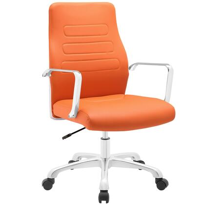 EEI-1531-ORA Depict Mid Back Aluminum Office Chair in Orange