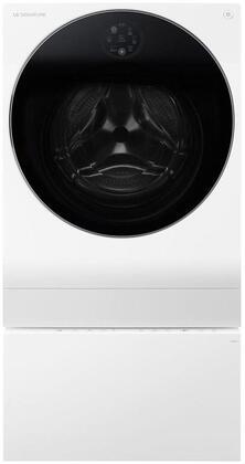 3-Piece Laundry Set with LUWM101HWA 24 inch  Washer/Dryer Combo  LUWD1CW 24 inch  SideKick Pedestal and AS401WWA1 Air