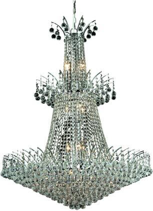 V8031G32C/SS 8031 Victoria Collection Chandelier D:32In H:43In Lt:18 Chrome Finish (Swarovski   Elements