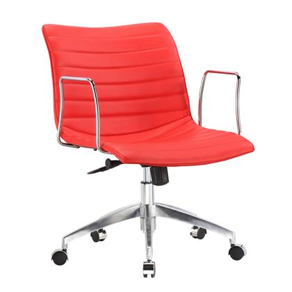 FMI10224-red Comfy Office Chair Mid Back