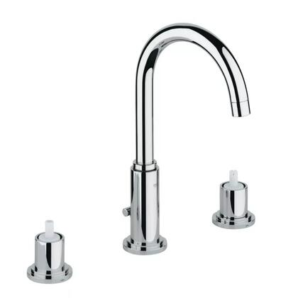 Grohe 2006900A Atrio 8 Widespread Two-Handle Bathroom Faucet, Medium, Starlight