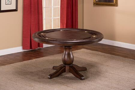 "6240GTB Chiswick 54"""" Game Table with Cup Holder and Seating for Four in Brown Cherry Faux Leather"" 679813"