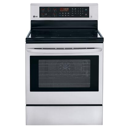 Click here for LRE3083ST 30 6.3 cu. ft. Capacity Freestanding Electric Range With IntuiTouch Keypad Control System  5 Cooktop Elements  Storage Drawer  Auto Oven Shutoff prices