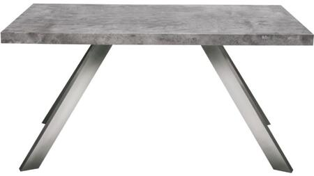 CARRERADEMA2 Carrera Collection Dining Table with Stainless Steel Legs  Large Flat Surface Top and Made in MDF Material  in