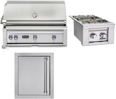 3-Piece Stainless Steel Outdoor Kitchen Package with VQGI5420LSS 42