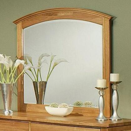 220701 Firefly Beveled Mirror with a Solid Cherry Wood Construction in a Wheat