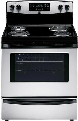94143 30 Electric Range with 4 Coil Elements  5.3 cu. ft. Oven Capacity  Storage Drawer and Self-Cleaning Oven in Stainless