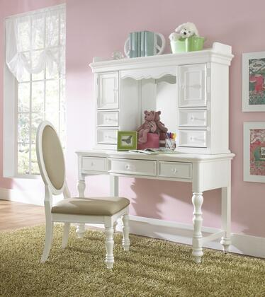 Sweetheart Collection 8470-BR-K41 3-Piece Set with Desk  Hutch and Chair in