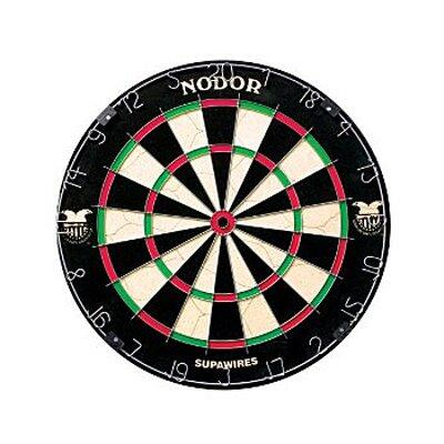 ND400 SupaWire 2 Bristle Staple Free Dartboard Endorsed by the American Dart Organization with a Movable Number Ring and a Hanging