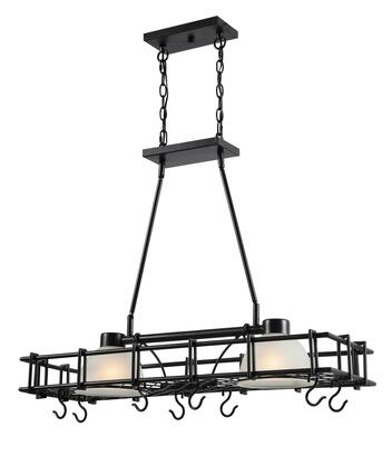 Holder 93815CBRZ 2-Light Pot Rack with 7