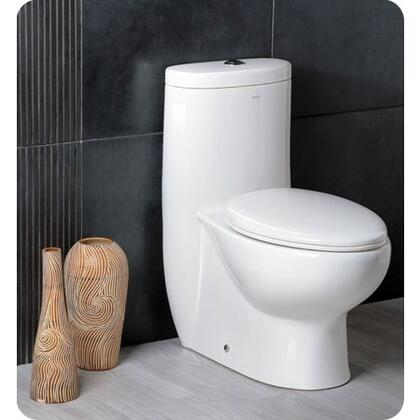 "Delphinus Collection FTL2309 30"" One-Piece Dual Flush Toilet with Soft Close Seat  Elongated Bowl and Stain Resistant"