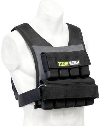 XM-3710 45 lbs. Commercial Micro Adjustable Weighted Vest with Incremental Weights  Easy Adjustable Velcro Strap and Commercial Material in