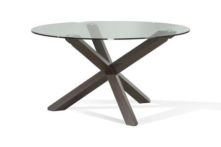 68700EG Milan Dining Table with Glass Top in