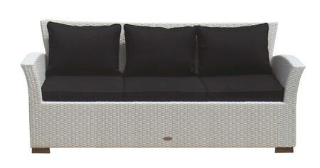 CHA3W 72 inch  Charleston Sofa in White Wash with Black