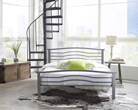 Watertown Collection MFP01353QN Queen Size Platform Bed with Metal Frame and Modern Style in