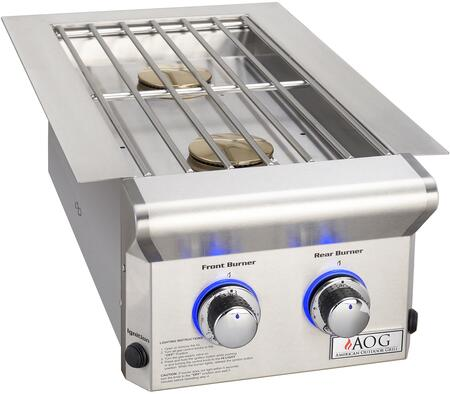 3282L Double Side Burner With Two 12500 BTU  Stainless Steel Rod Grid  and Stainless Steel