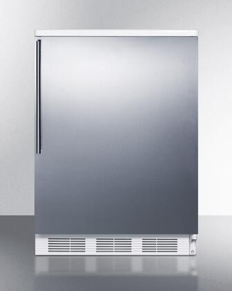 FF6BI7SSHV 24 inch  Commercially Approved All-Refrigerator with 5.5 Cu. Ft. Capacity  Automatic Defrost  Adjustable Shelves  Crisper  and Interior Light: Stainless