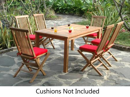 SET-202 7-Piece Dining Table Set with 63