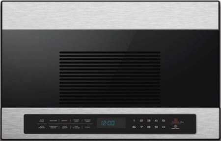 MOTR13D3S Over the Range Microwave with Program Cooking  Turntable  and Vented  in Black with Stainless Steel