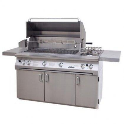 SOL-AGBQ-56C-NG 56 inch  Freestanding Natural Gas Grill  Square Cart Base  Rotisserie