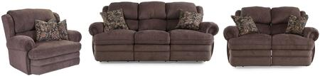 Hancock Collection 203142614124113SLR 3-Piece Living Room Set with Sofa  Loveseat and Recliner in Viper