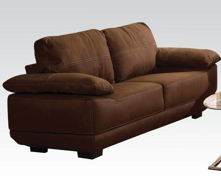 Memphis Collection 51725 84 inch  Sofa with Tight Seat Cushions  Baseball Stitching  Loose Back and Nubuck Upholstery in