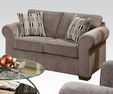 Torilyn Collection 51241 64 inch  Loveseat with Made in USA  Pillow Included  Wood Frame  Tight Back Cushions  Loose Seat Cushions and Fabric Upholstery in Lola