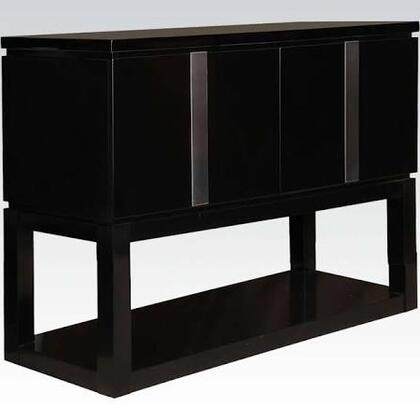 Danny Collection 71253 52 inch  Server with 2 Doors  Bottom Shelf and Metal Accents in Black